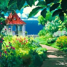 """3,736 Likes, 9 Comments - スタジオジブリ (@instaghibli) on Instagram: """"Gina's private flower garden from Porco Rosso #studioghibli #porcorosso #gina"""""""