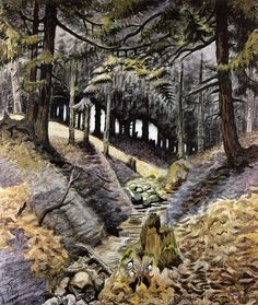 "Charles Burchfield ""The Dark Ravine"", 1946 Cleveland Art, Tree Artwork, Over The River, Landscape Paintings, Landscapes, Tree Paintings, Art For Art Sake, Artist Art, Photo Art"