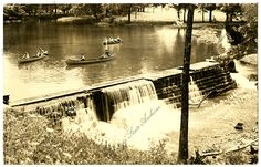 People boating on Lake La Bellatine in Sulphur Springs Arkansas State Archives G4450 #TBT
