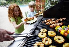 children with grilled kebabs & 20 more recipes for the grill
