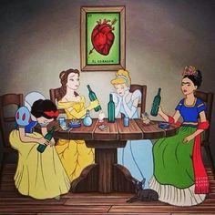 Princesses and Frida Kahlo