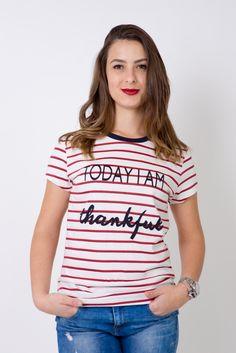 Tshirt Listras - Today i am thankful