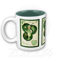 Vintage St Patrick's Greeting Coffee #Mug #stpatricksday  @Amelia Stone Morris Night Design