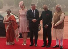 On the second day of their India visit, King Philippe of Belgium and Queen Mathilde of Belgium visited the tomb of Mahatma Gandhi and placed a wreath. A welcoming ceremony was held for the Royal Couple at Presidency Palace in New Delhi. President of India, Ram Nath Kovind and his wife Savita Kovind and Prime Minister of India, Narendra Modi welcomed the Royal Couple. Afterwards, Queen Mathilde visited Fusion Microfinance Head Office.