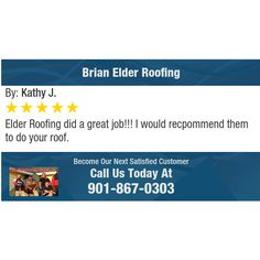 Elder Roofing did a great job!!!  I would recpommend them to do your roof.