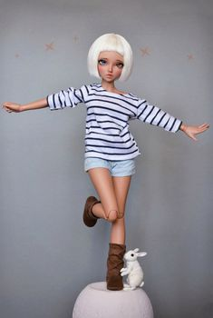 (4arllin) Tags: alpaca doll tan chloe wig moe bjd fairyland mnf minifee