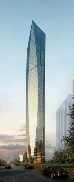 Rosamaria G Frangini | Architecture Skyscraper ▪️ Guangxi Financial Investment Center, Nanning, China by John Portman & Associates :: 88 floors, height 400m [Future Architecture: http://futuristicnews.com/category/future-architecture/]
