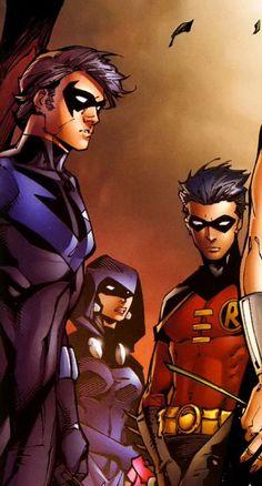 Nightwing, Raven & Robin