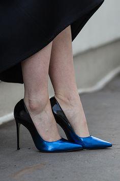 b763fb248c31 Alice Blue High Heel Court Shoes By Carvela