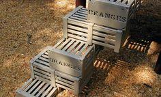 Orange Crates | Crate-Shaped Block Step Playground Ladder | Landscape Structures