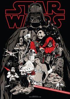 Star Wars by Harijs Grundmanis - Home of the Alternative Movie Poster -AMP-