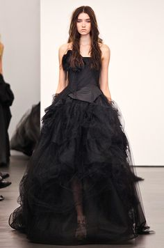 Black wedding dress from Vera Wang, Fall 2012. Click to see more black wedding dresses!
