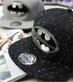 2014 New Fashion Batman Lovers Adjustable Snapback Hip-hop Baseball Cap Unisex