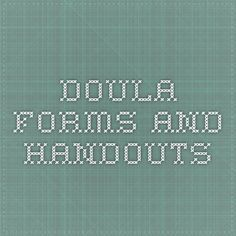 Doula forms and handouts