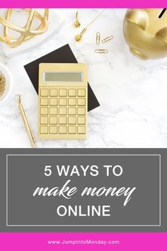 5 Ways To Make Money Online. Make money with your blog with these easy strategies.