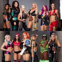Raw: Alicia Fox Nia Jax Raw Women's Champion Charlotte Sasha Banks & Bayley w/ Dana Brooke vs SD: Alexa Bliss Nikki Bella SD Women's Champion Becky Lynch Carmella & Naomi w/Natalya who will be victorious at WWE Survivor Series 2016