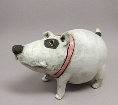 Dog Sculpture in Stoneware by elukka