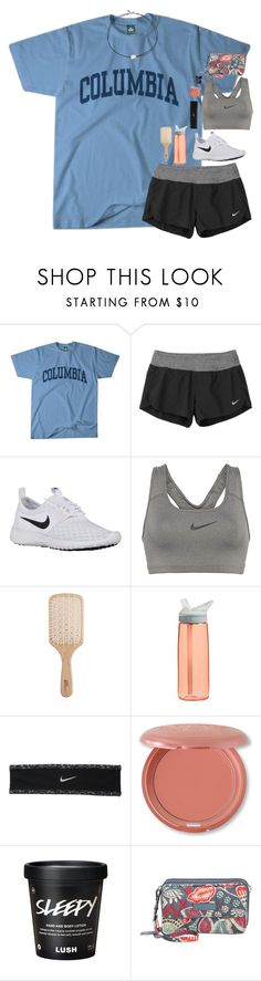 """summer ready:)))"" by southernmermaid ❤ liked on Polyvore featuring Columbia, NIKE, Philip Kingsley, CamelBak, Stila, Vera Bradley and Vanessa Mooney"