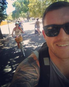 So today we cycled around Rottnest Island! Wow what a beautiful island!! I'm counting this as today's exercise haha! Killed out after it! Had a great day!! #happy #love #rottnest #rottnestisland #cycling #cardio #workout #adventure #healthy #inlove #boyfriend #girlfriend #conorandchloe #funtimes #sun #sea #sand #bbg #smiles @conormurphy89 by chloecornu http://ift.tt/1L5GqLp