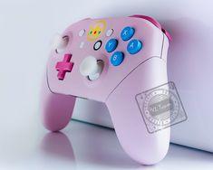 Custom Xbox One Controller, Xbox Wireless Controller, Nintendo Controller, Pink Games, Custom Consoles, Nintendo Switch Accessories, Console Styling, Princess Tattoo, Nintendo Switch Games