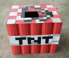 Mine craft Valentine box