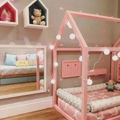 camas infantiles tipo casita de transicion montesori