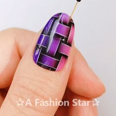 Nail Art✰A Fashion Star✰ - Nails - Nageldesign Nail Art Designs Videos, Nail Design Video, Creative Nail Designs, Nail Art Videos, Creative Nails, Star Nail Art, New Nail Art, Nail Art Diy, Cool Nail Art