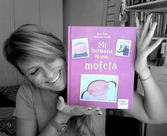 """La ilustradora Francesca Assirelli con su álbum """"Mi hermana es una mofeta"""""""