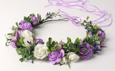 How to make a Wedding Floral Crown & Tiara Clay Flowers, Fabric Flowers, Paper Flowers, Wedding Wreaths, Wedding Crafts, Flower Crown Tutorial, Floral Crown Wedding, Hair Wreaths, Paperclay