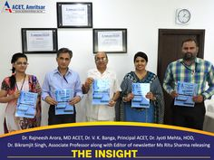 """The #Department of #Applied #Sciences (#Chemistry Group) recently released the third issue of the #Departmental #Newsletter """"#The #Insight"""""""