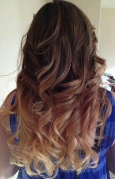 I did this! Ombre- Carmel- dark brown to blonde- color melt- spring- fall- hair color- long hair- long hair color.