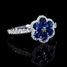sapphire ring flower ile ilgili görsel sonucu