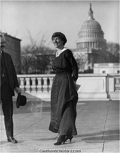 "Jeannette Pickering Rankin was the first woman in the United States Congress, elected in Montana in 1916 and again in 1940. After being elected in 1916 she said, ""I may be the first woman member of Congress but I won't be the last."""