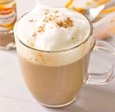 Pumpkin Spice Latte with homemade coffee syrup - I've created the most amazing syrup, enabling you to enjoy PSLs at home all Fall long!