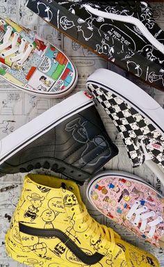 Vans x peanuts vans outfit, nike outfits, tennis vans, vans off the wall, v Vans X, Tenis Vans, Vans Sneakers, Vans Shoes, Dream Shoes, Crazy Shoes, Me Too Shoes, Sock Shoes, Shoe Boots