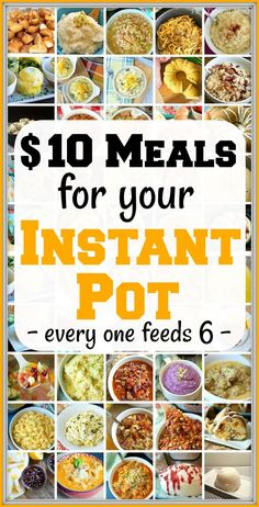 Cheap Instant Pot recipes under 10 each that you will love From dinners to side dishes and pressure cooker desserts too youve got to try a new one each week to see which. Best Instant Pot Recipe, Instant Pot Dinner Recipes, Instant Recipes, Instant Pot Meals, Instant Pot Pasta Recipe, Recipes Dinner, Cheap Instant Pot, Pressure Cooker Desserts, Healthy Pressure Cooker Recipes