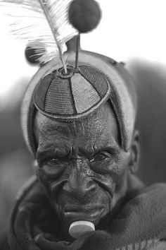 Look Lokwateban, Jie Clan Elder, Nakapelimuru Watakau, Kotido District, Karamoja, Uganda  Location: Shrine of Clan Elders. Photographer Alfred Weidinger, Feb 6, 2013.