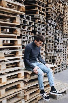 Kevin Elezaj - Vans Sneakers, Levi's® Jeans, Wannabk Turtleneck - Www.kevinelezaj.com