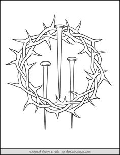 Lent Coloring Activities Luxury the Catholic Kid Catholic Coloring Pages and Games for Cross Coloring Page, Jesus Coloring Pages, Dorn Tattoo, Symbol Tattoos With Meaning, Crucifixion Of Jesus, Tattoos With Kids Names, The Cross Of Christ, Crown Of Thorns, Religious Images
