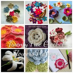 Free Crochet Wednesday Round-Up: Flower Applique Patterns