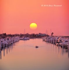 [Sunset  by Elena Kovalevich, via 500px ... Lake Michigan, Sunset, North Point Marina Harbor]  ...