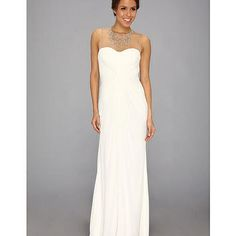 Adrianna Papell Necklace Long Gown Ivory - Zappos.com Free Shipping BOTH Ways - InStores