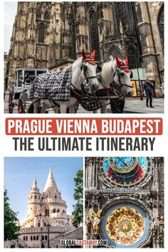 Prague, Vienna, Budapest - the most popular Central Europe itinerary! Learn the best way to do it + many tips to help you have the best trip ever! Budapest Travel, Visit Budapest, Visit Prague, Budapest Hungary, Travel Destinations, Travel Tips, Travel Europe, Travel Guides, Dubai Skyscraper