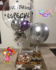 Diy Birthday, Birthday Gifts, Food Bouquet, Welcome To The Party, Sweet Life, Holidays And Events, Gift Baskets, Christmas Bulbs, Balloons