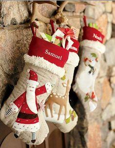 Handmade Christmas Stockings. http://www.hobbycraft.co.uk/christmas #christmas #stocking #handmadechristmas