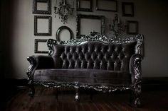 Gothic Couch and Decor.
