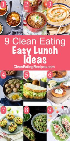 I'm so sick of the same thing every day for lunch, so I'm excited to have this list of Clean Eating lunch ideas that are actually easy and healthy.