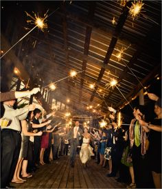 i definitely like the idea of sparklers (if its dark after the ceremony) rather than rice