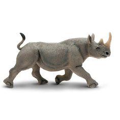 Black Rhino Wild Safari Wildlife Figure Safari Ltd