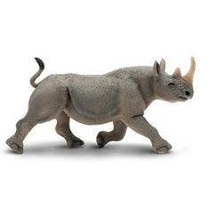 Black Rhino Wild Safari Wildlife Figure Safari Ltd